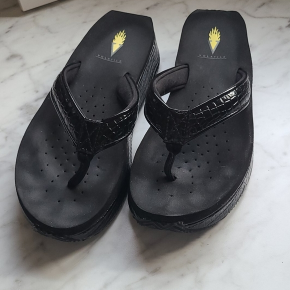 Black Volatile Flip Flops